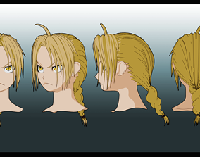 edward elric hairstyle 3D