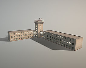Airport Control Tower URKK KDP 3D model