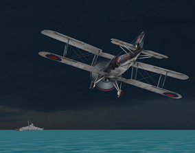 3D FLY Game-Ready - Fairey Swordfish - Airplane