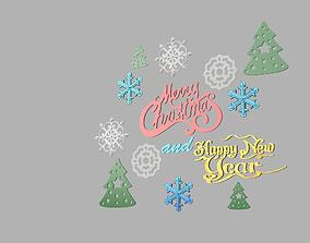 Marry christmas and happy new year 3D printable model