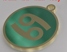 Model 6 Cancer Necklace Horoscope Necklace Zodiac Sign