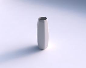 Vase squeezed hexagon smooth 3D print model