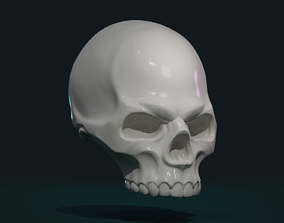 Stylized Skull 3D print model