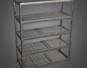 Large Metal Shelf TLS - PBR Game Ready 3D model