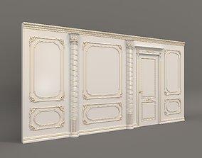 Classic Interior Wall Decoration 9 3D model