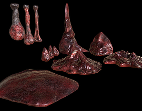 Horror Prop - Cocoon stench Animated 3D model