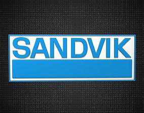 sandvik logo 3D model