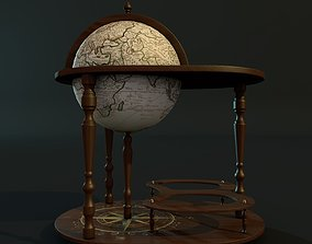 3D model Globe bar with table