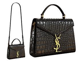 YSL Saint Laurent Cassandra Mini Top Bag Black 3D asset