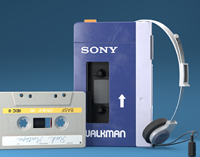 Vintage Old Walkman 3D model
