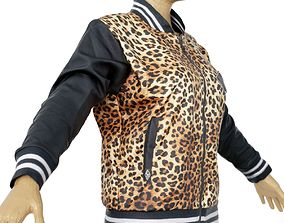 Jacket Tiger Decoration Clothing Female 3D model