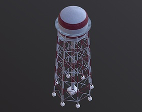 3D model VR / AR ready Industrial Water Tower Airport