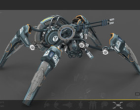 3D asset Spider Drone V6 Cybertech - ANIMATED