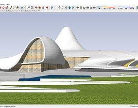 3D model Sketchup 221 - Cultural Center