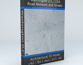 Washington DC Road Network and Streets 3D model