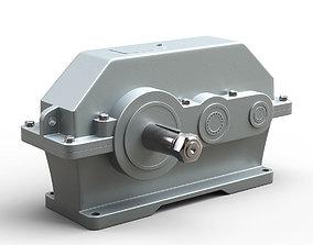 3D model Industrial gearbox