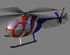 Hughes500 V1 Helicopter 3D model