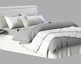 3D RH Teen Brook Slipcovered Platform Bed