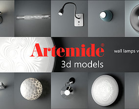 Artemide wall lamps collection volume 2 3D