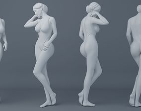 Fullness woman wearing swimsuit 004 3D printable model