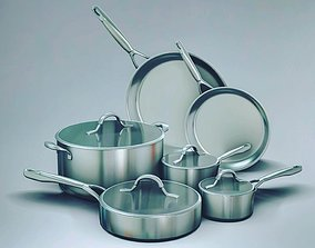 3D cooking pots and pans
