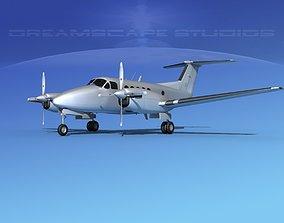 3D model Beechcraft UC-12Q Huron Bare Metal