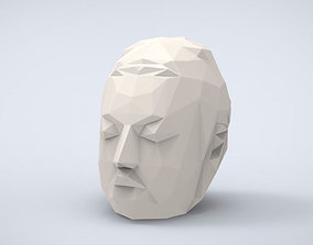 Printable Head if Buddha Lowpoly Style
