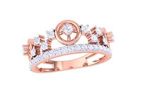 3D printable model ring diamond IF-101