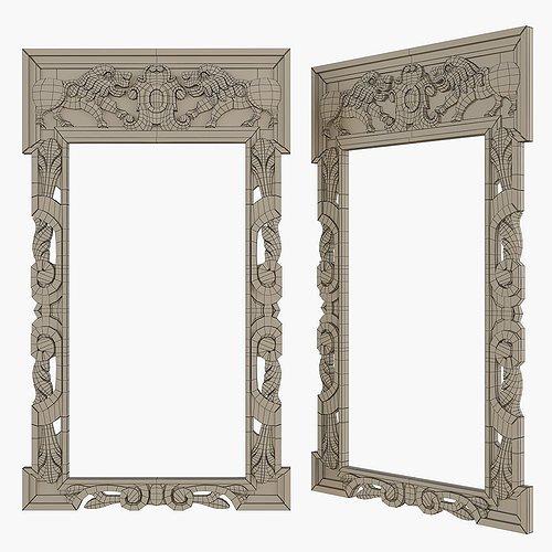 gothic-frame-cnc-3d-model-max-obj-mtl-fb