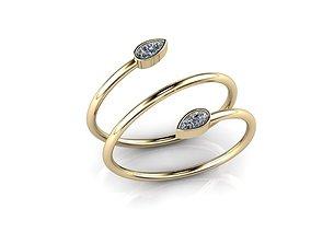 Jewelry Ring cad 3D print model