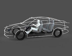CAD ergonomic car template model MCAR1P1D0V2