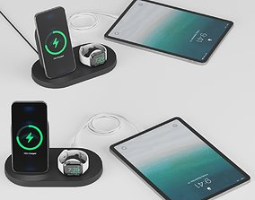 3D model Wireless Charging Dock for iPhone Apple Watch 1
