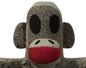 3D asset Sock Monkey