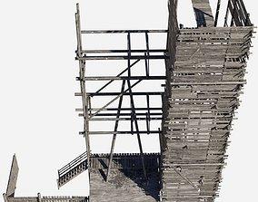 wodden scaffold 3D model