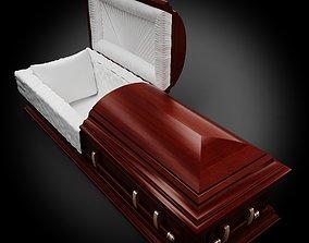High Def Classic Coffin wood 05 3D model