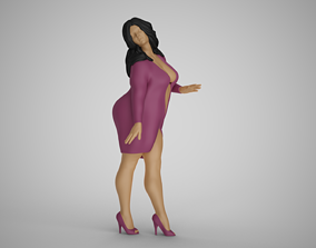 3D print model Woman in the Mirror 3