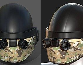 low-poly Helmet plastic scifi futuristic 3d model low