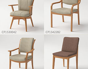 Chairs collection 01 3D model
