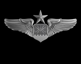 USAF Senior Combat Systems Officer Wings Badge 3D