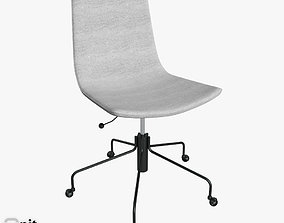 wheel Slope Office Chair by West Elm 3D model