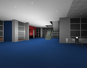 3D Luxury architectural Hall Lobby
