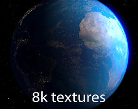 Planet Earth space 3D animated