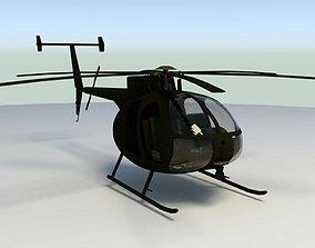 3D asset MH-6 Little Bird lowpoly