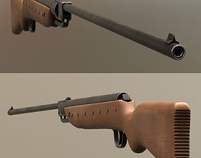 animated Airgun Haenel Model III-56 Knicker