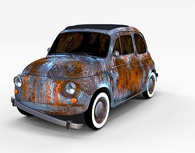 3D Rusty FIat 500 Nuova rev