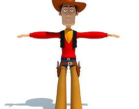 Cartoon Cowboy Character 3D
