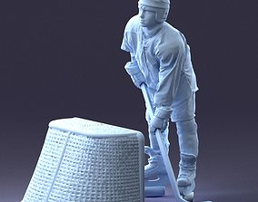 Hockey player 1014 3D Print Ready sport