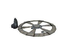 Ancient stone circle 3D asset