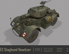 3D asset T17E3 Staghound Howitzer Armoured Car