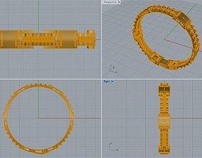 3D printable model Bracelet With Bolt